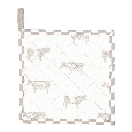 2 STUKS Pannenlap 20*20 cm Natuur | LWC45N | Clayre & Eef