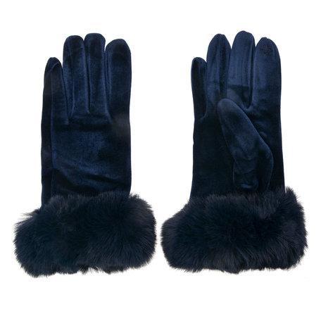 Handschoenen 8*24 cm Blauw | MLGL0008BL | Clayre & Eef