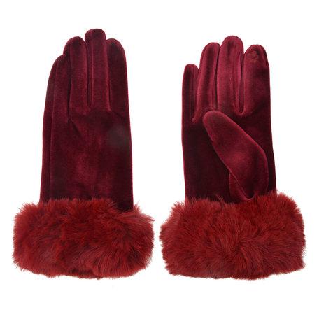 Handschoenen 8*24 cm Rood | MLGL0008BU | Clayre & Eef