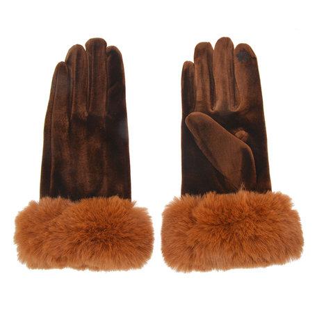Handschoenen 8*24 cm Bruin | MLGL0008CH | Clayre & Eef