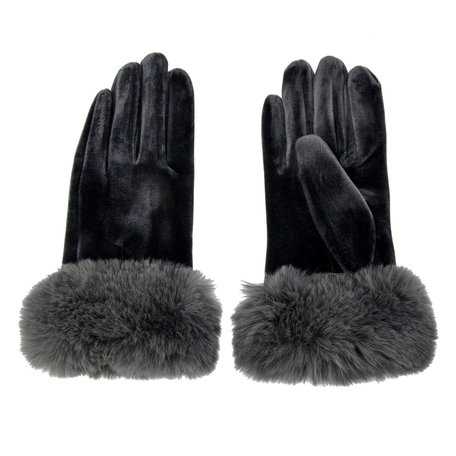 Handschoenen 8*24 cm Grijs | MLGL0008G | Clayre & Eef