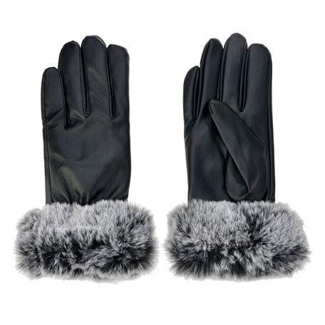 Handschoenen 8*24 cm Zwart | MLGL0015 | Clayre & Eef