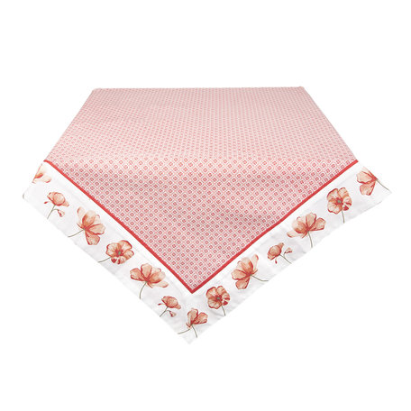 Tafelkleed 100*100 cm Rood | POF01 | Clayre & Eef