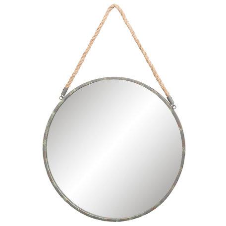 Spiegel ø 56*3 cm Grijs   52S121   Clayre & Eef