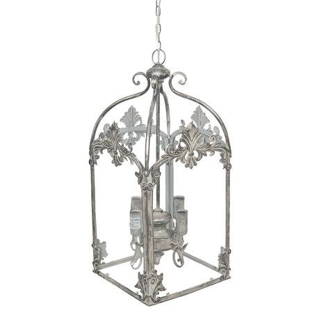 Hanglamp 28*28*61 cm E14/max 4*60W Grijs | 5LMP260 | Clayre & Eef