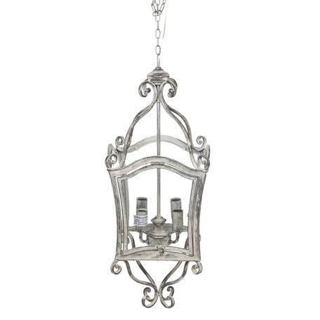 Hanglamp 28*28*72 cm Zwart bruin | 5LMP261 | Clayre & Eef