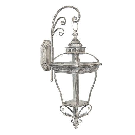 Wand lantaarn 28*24*65 cm Grijs | 5Y0567 | Clayre & Eef