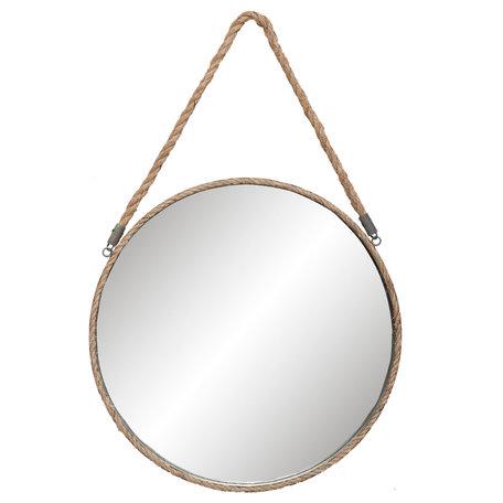 Spiegel ø 47*3 cm Grijs   62S126   Clayre & Eef
