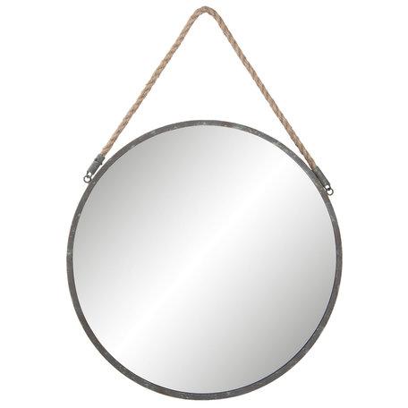 Spiegel ø 45*1cm Grijs   62S136   Clayre & Eef