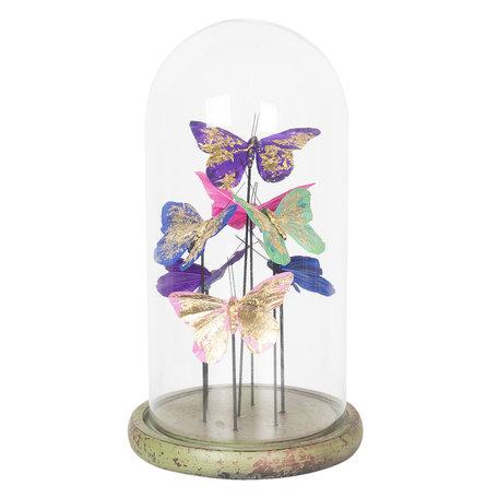 Stolp met decoratie ø 18*32 cm Transparant | 6GL2459 | Clayre & Eef