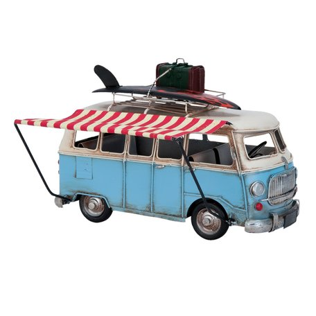 Model bus 28*11*18 cm Blauw | 6Y1631 | Clayre & Eef