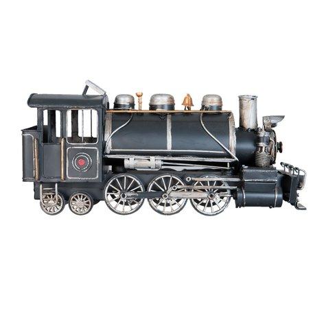 Model locomotief 34*12*17 cm Zwart   6Y2004   Clayre & Eef