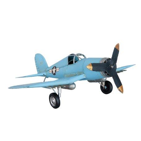 Model vliegtuig 47*34*15 cm Blauw | 6Y2010 | Clayre & Eef