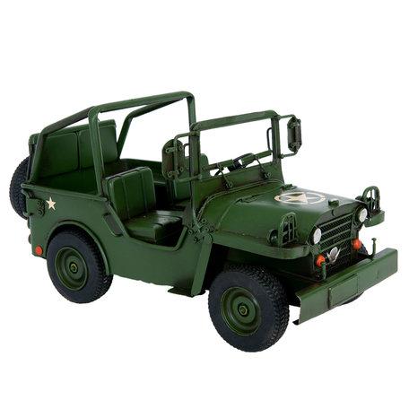 Model jeep 32*17*17 cm Groen | 6Y2264 | Clayre & Eef
