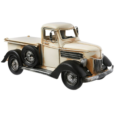 Model auto / Spaarpot / Fotolijst 26*12*13 cm / 9*7 cm Creme   6Y2449   Clayre & Eef