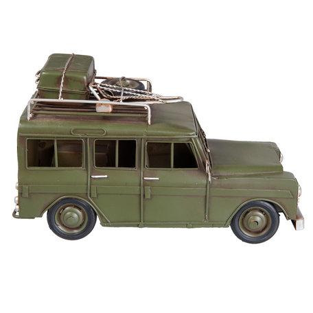 Model auto 25*12*14 cm Groen   6Y2540   Clayre & Eef