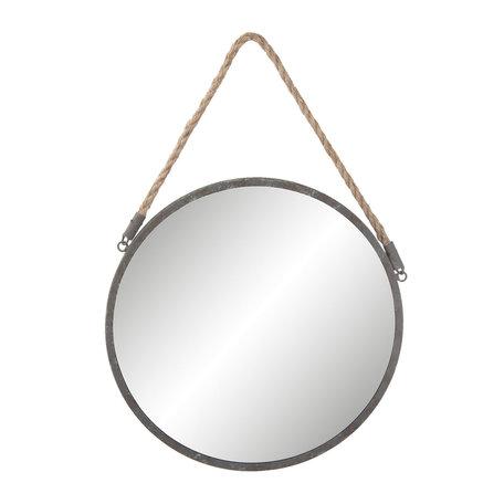Spiegel ø 36*1 cm Grijs   62S135   Clayre & Eef