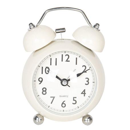 Wekker 9*5*12 cm / 1*AA Creme | 6AC0030 | Clayre & Eef