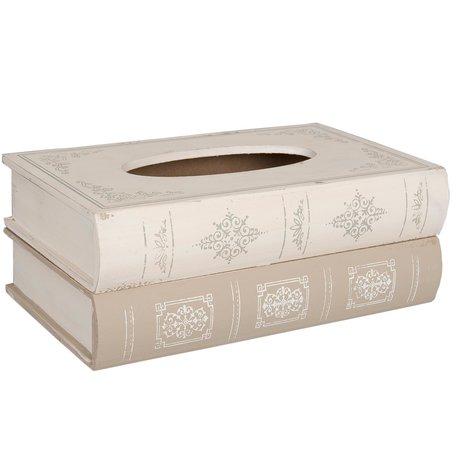 Tissuebox 27*16*10 cm Creme   6H0352   Clayre & Eef