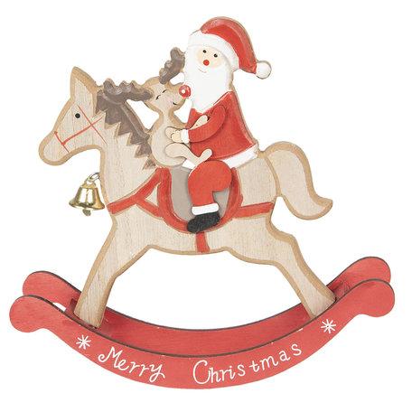 Decoratie kerstman 22*5*22 cm Bruin | 6H1740 | Clayre & Eef