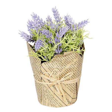 Decoratie lavendel in pot 16 cm Creme | 6PL0209 | Clayre & Eef