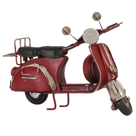Model scooter 17*8*10 cm Rood | 6Y1476 | Clayre & Eef
