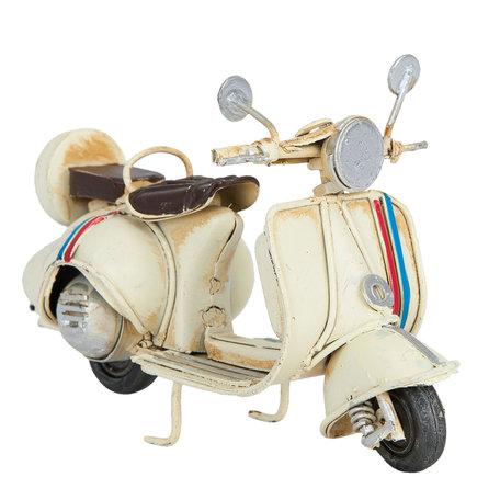 Model scooter 11*5*7 cm Wit   6Y2257   Clayre & Eef