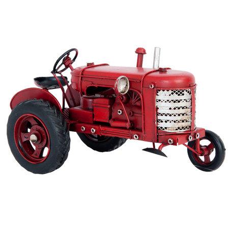 Model tractor 17*9*10 cm Rood | 6Y2260 | Clayre & Eef