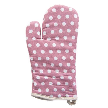 Ovenhandschoen 14*32 cm Pink | KT044.024 | Clayre & Eef