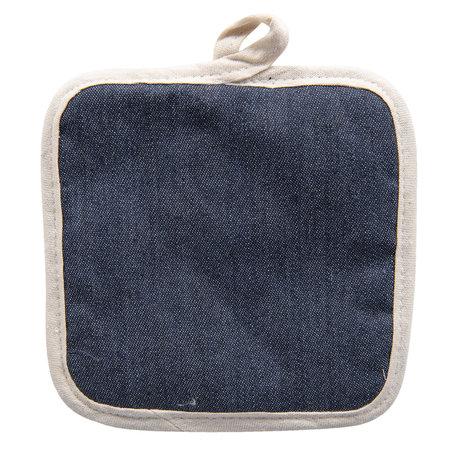 2 STUKS Pannenlap 16*16 cm Blauw | KT045.022 | Clayre & Eef