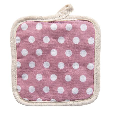 2 STUKS Pannenlap 16*16 cm Pink | KT045.024 | Clayre & Eef