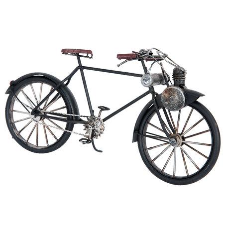 Model solex/fiets 31*9*15 cm Zwart   6Y2251   Clayre & Eef