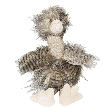 Decoratie Struisvogel 28 cm Grijs | TW0507 | Clayre & Eef
