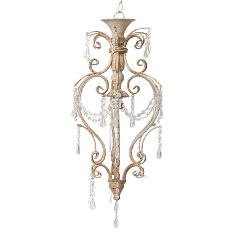 Hanglamp ø 32*70 cm E14/max 1*25W Grijs | 5LMP218 | Clayre & Eef