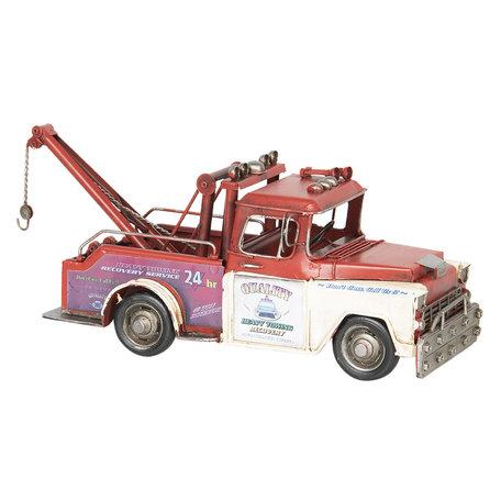 Model takelwagen 31*11*15 cm Rood   6Y2970   Clayre & Eef
