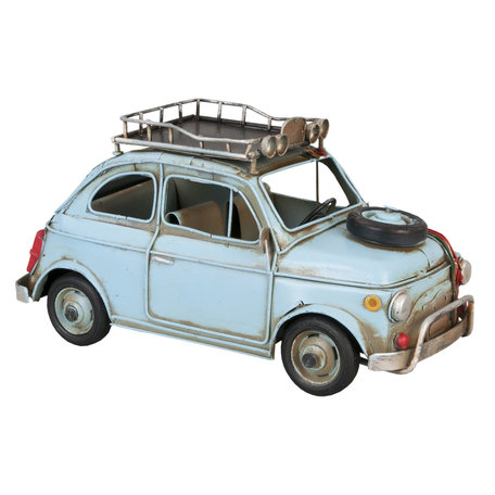 Model auto 27*12*13 cm Blauw   6Y1196   Clayre & Eef