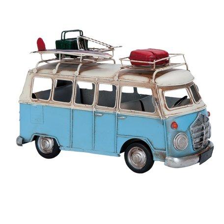 Model bus 28*14*18 cm Blauw | 6Y1632 | Clayre & Eef