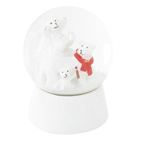 Sneeuwbol ø 7*8 cm Wit | 64257 | Clayre & Eef