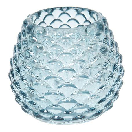 Waxinelichthouder / Theelichthouder ø 10*10 cm Blauw | 6GL2430 | Clayre & Eef