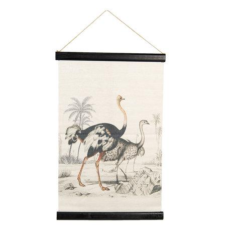 Wandkaart dieren 40*2*60 cm Multi | 6WK0031 | Clayre & Eef