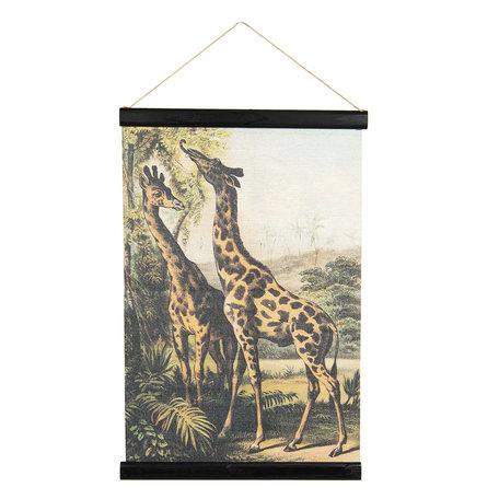 Wandkaart dieren 40*2*60 cm Multi | 6WK0032 | Clayre & Eef