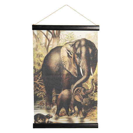 Wandkaart dieren 40*2*60 cm Multi | 6WK0033 | Clayre & Eef