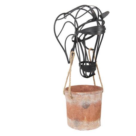 Planthouder 37*20*72 cm Bruin   5Y0464   Clayre & Eef