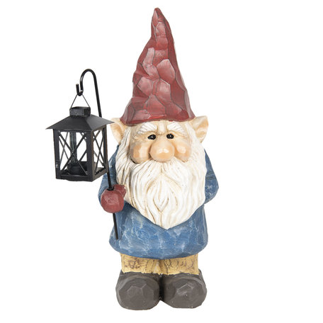 Kabouter met lantaarn 18*15*44 cm Meerkleurig | 6CE0990 | Clayre & Eef