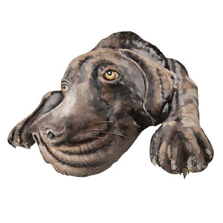 Wanddecoratie hond 70*52*5 cm Multi | 5WA0119 | Clayre & Eef