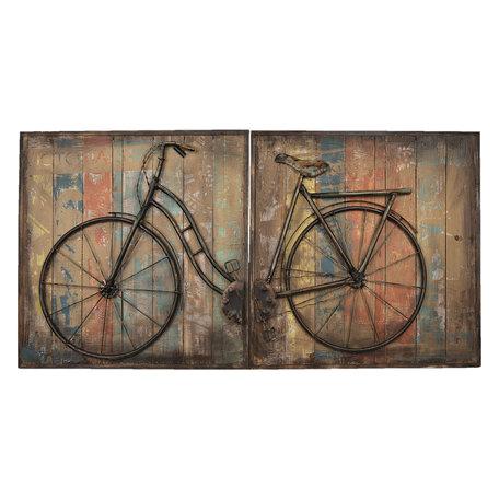 Wanddecoratie fiets 120*60*6 cm Meerkleurig | 5WA0123 | Clayre & Eef