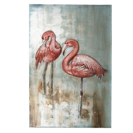 Wanddecoratie vogels 90*60*3.5 cm Multi | 5WA0128 | Clayre & Eef