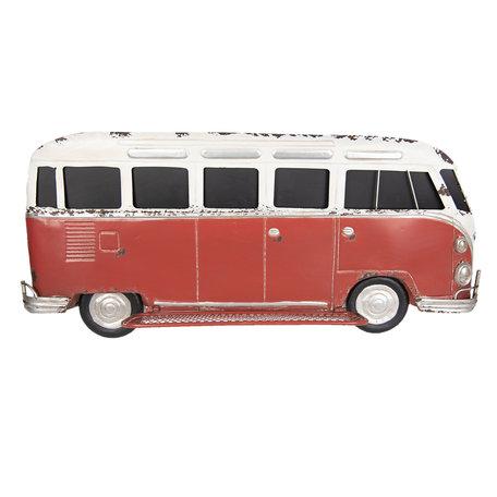 Wanddecoratie bus 89*15*40 cm Rood | 5Y0518 | Clayre & Eef