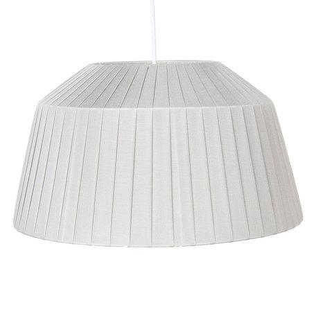 Hanglamp ø 40*21 cm E27/max 1*60W Zilverkleurig | 6LAK0461ZI | Clayre & Eef
