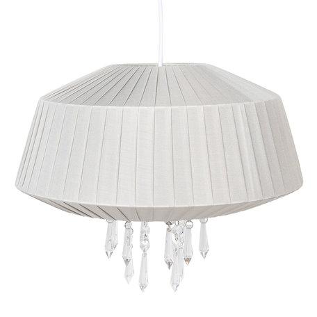 Hanglamp ø 40*33 cm E27/max 1*60W Zilverkleurig | 6LAK0462ZI | Clayre & Eef